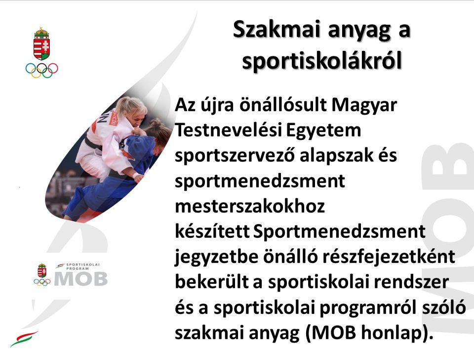 Szakmai anyag a sportiskolákról