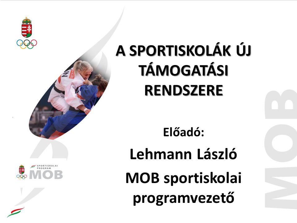 A SPORTISKOLÁK ÚJ TÁMOGATÁSI RENDSZERE MOB sportiskolai programvezető