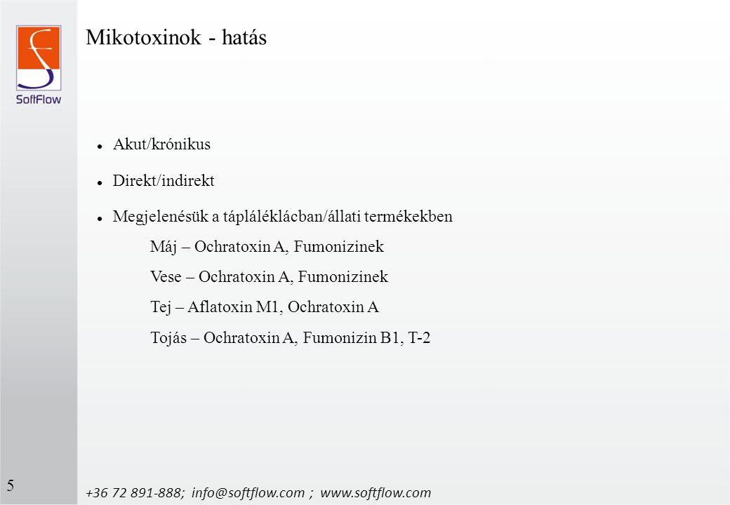 Mikotoxinok - hatás Akut/krónikus Direkt/indirekt
