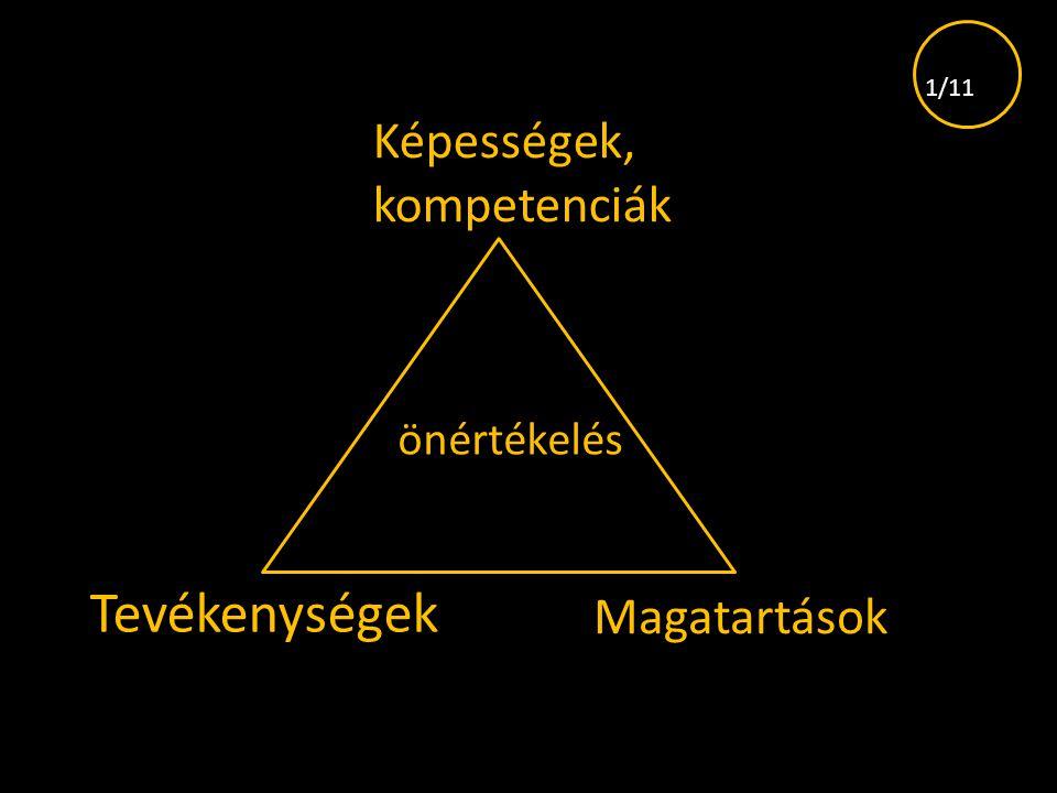 1/11 Képességek, kompetenciák önértékelés Tevékenységek Magatartások