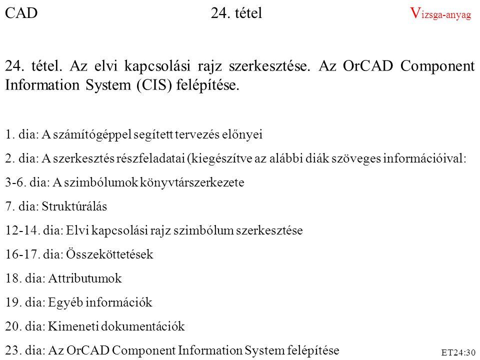 CAD 24. tétel Vizsga-anyag