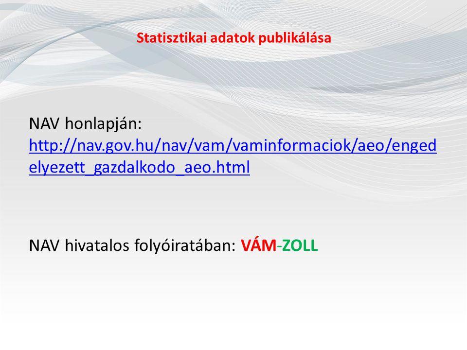 Statisztikai adatok publikálása