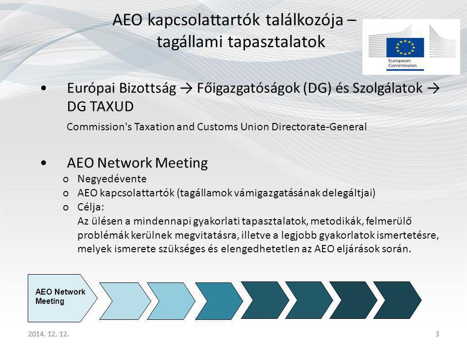AEO kapcsolattartók találkozója – tagállami tapasztalatok