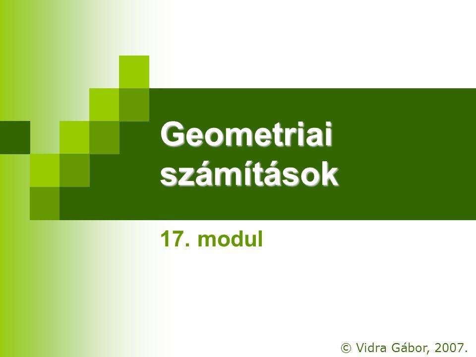 Geometriai számítások