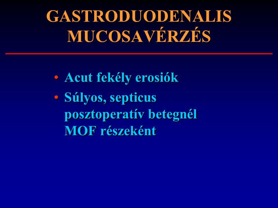 GASTRODUODENALIS MUCOSAVÉRZÉS