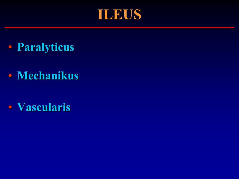 ILEUS Paralyticus Mechanikus Vascularis