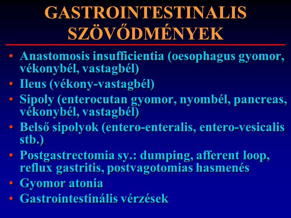 GASTROINTESTINALIS SZÖVŐDMÉNYEK