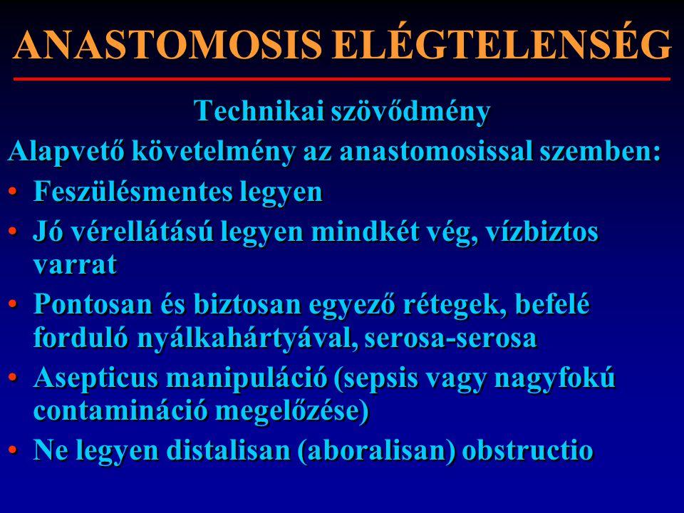 ANASTOMOSIS ELÉGTELENSÉG