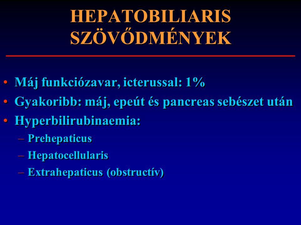 HEPATOBILIARIS SZÖVŐDMÉNYEK