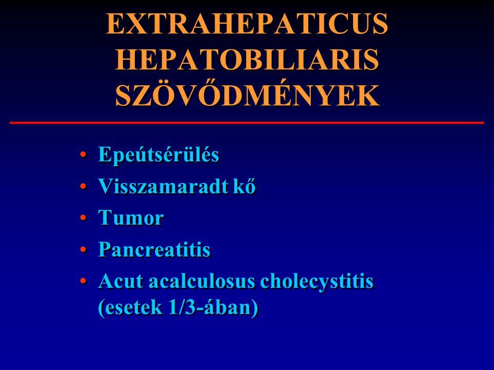 EXTRAHEPATICUS HEPATOBILIARIS SZÖVŐDMÉNYEK