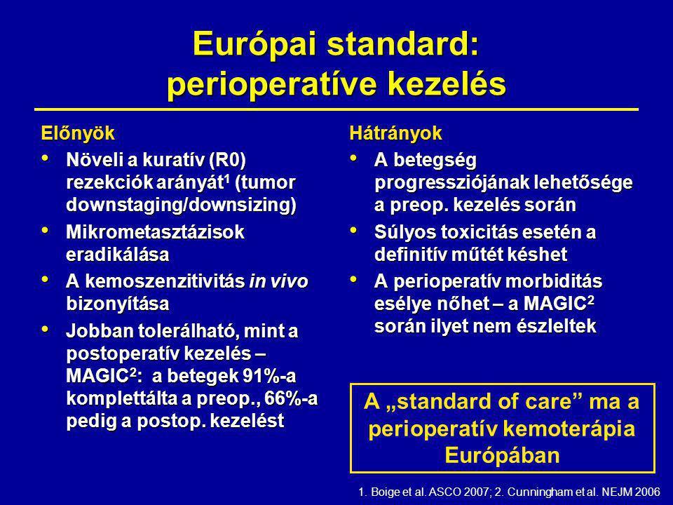 Európai standard: perioperatíve kezelés