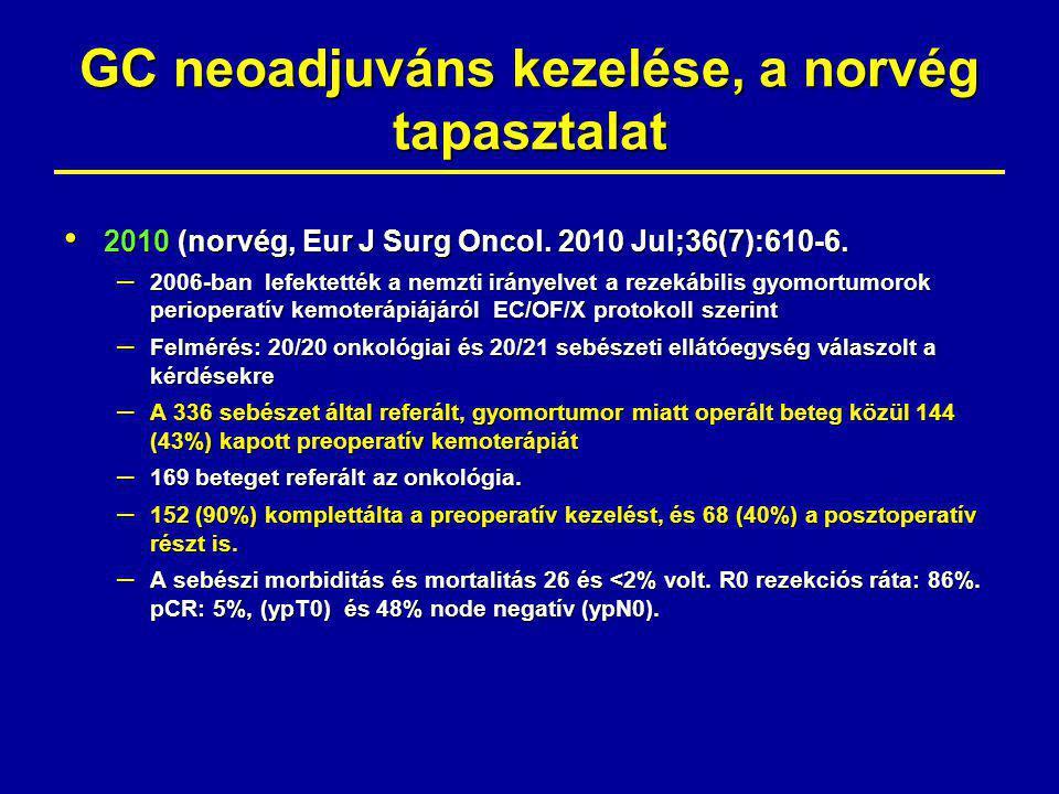GC neoadjuváns kezelése, a norvég tapasztalat