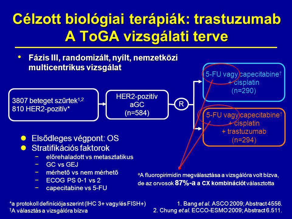 Célzott biológiai terápiák: trastuzumab A ToGA vizsgálati terve