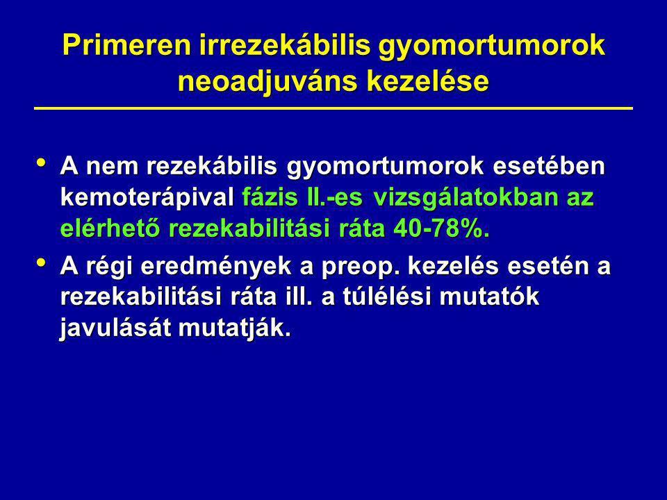 Primeren irrezekábilis gyomortumorok neoadjuváns kezelése