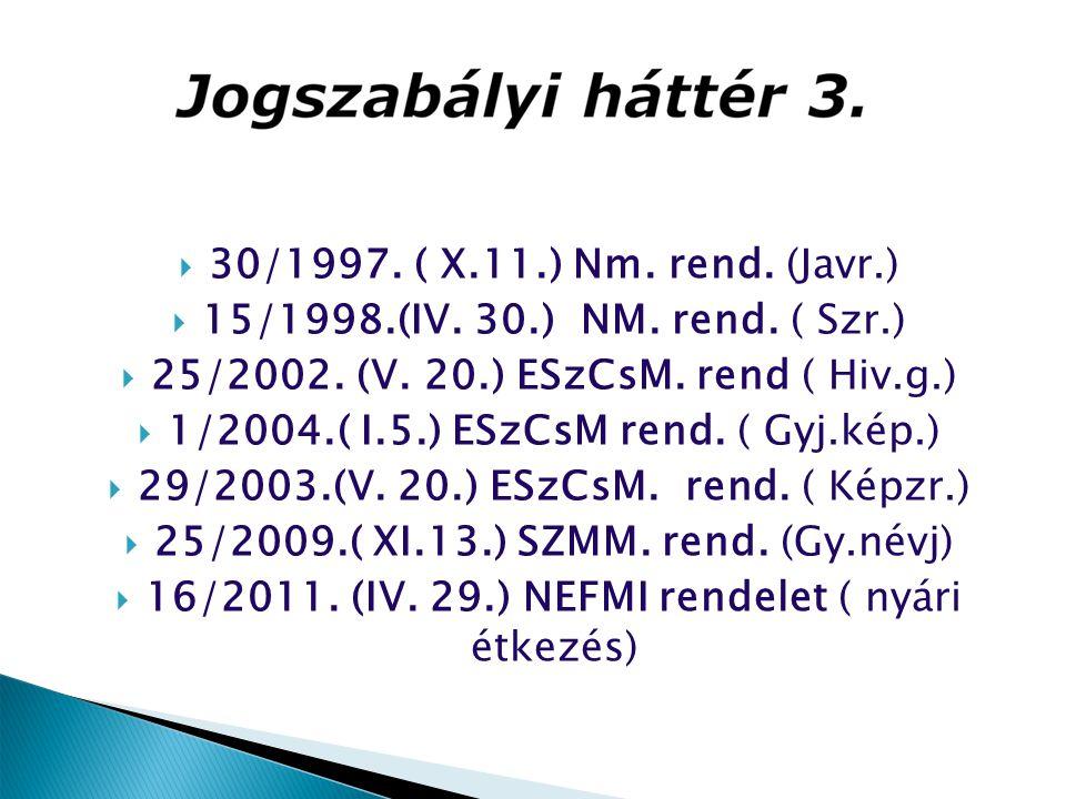 25/2002. (V. 20.) ESzCsM. rend ( Hiv.g.)