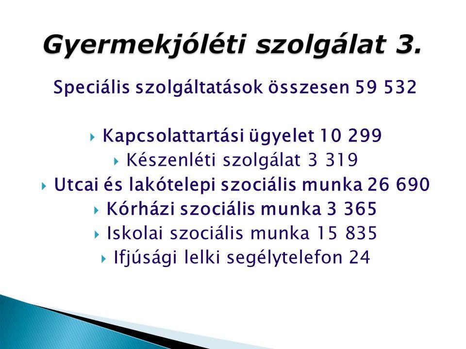 Speciális szolgáltatások összesen 59 532