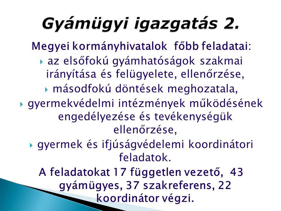 Megyei kormányhivatalok főbb feladatai: