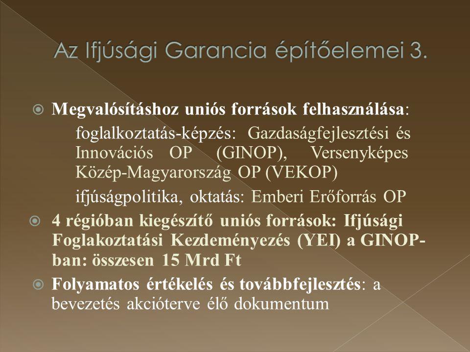 Az Ifjúsági Garancia építőelemei 3.