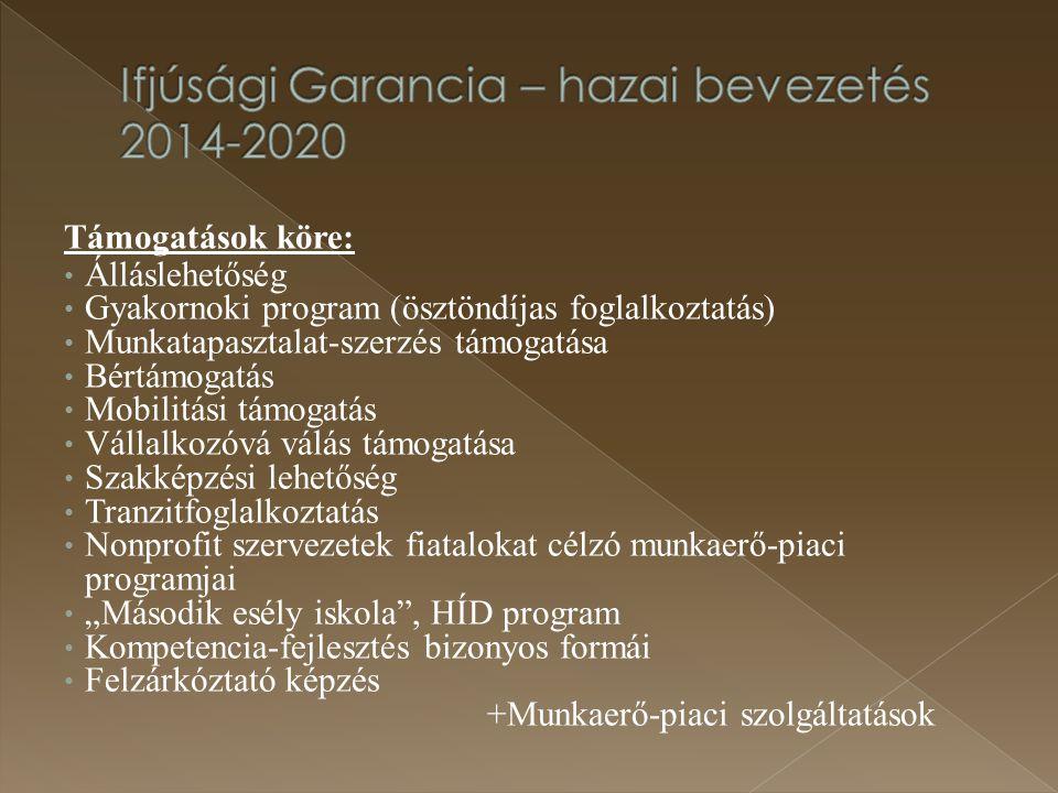 Ifjúsági Garancia – hazai bevezetés 2014-2020
