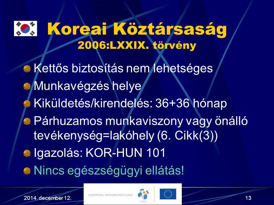 Koreai Köztársaság 2006:LXXIX. törvény