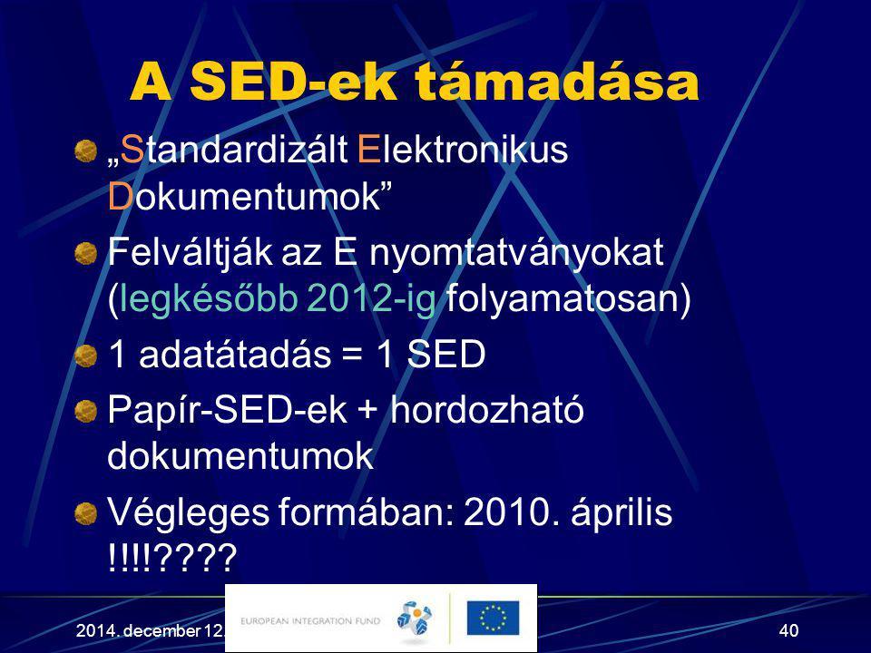 """A SED-ek támadása """"Standardizált Elektronikus Dokumentumok"""