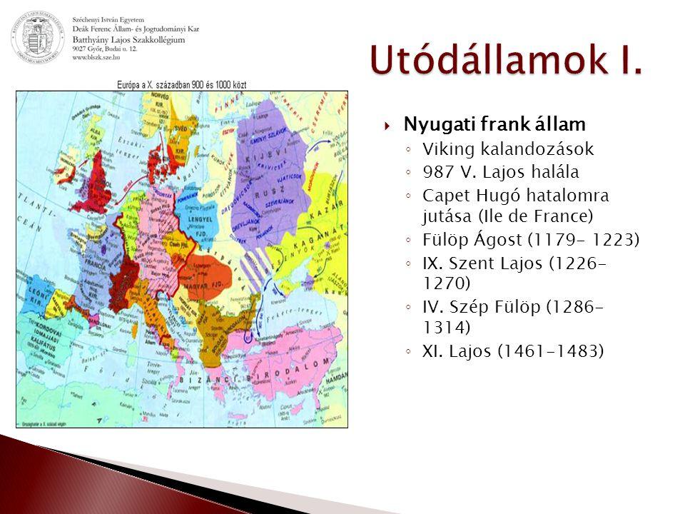 Utódállamok I. Nyugati frank állam Viking kalandozások