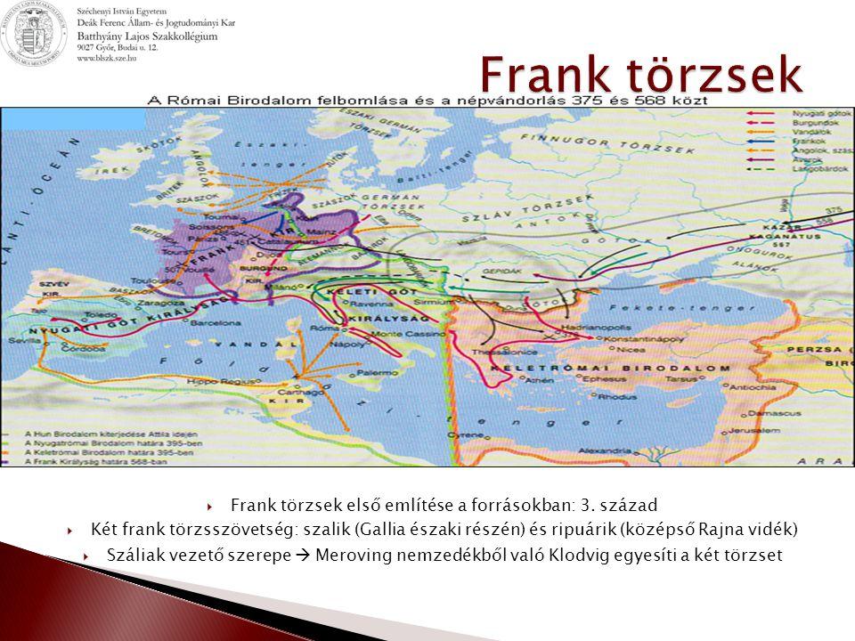 Frank törzsek első említése a forrásokban: 3. század