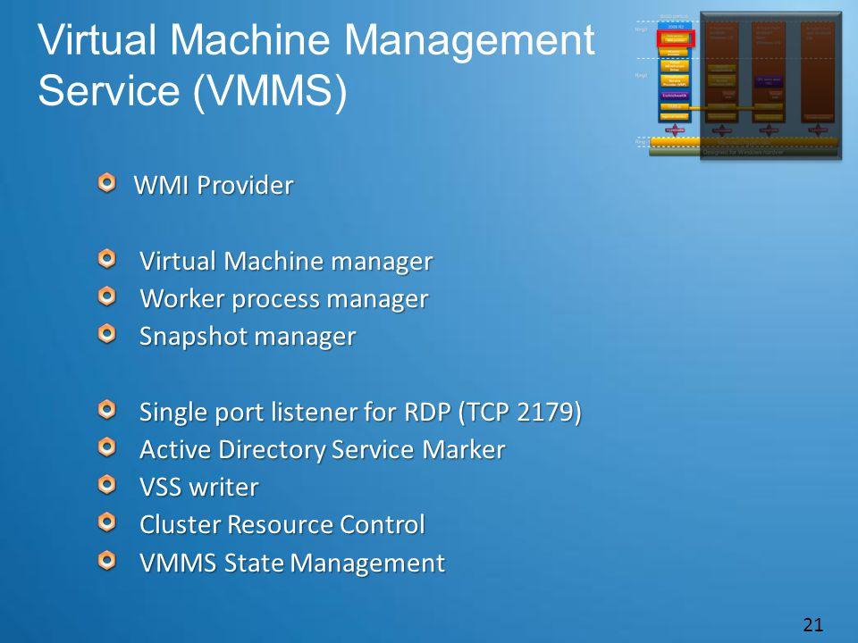 Virtual Machine Management Service (VMMS)