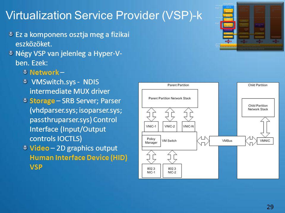 Virtualization Service Provider (VSP)-k