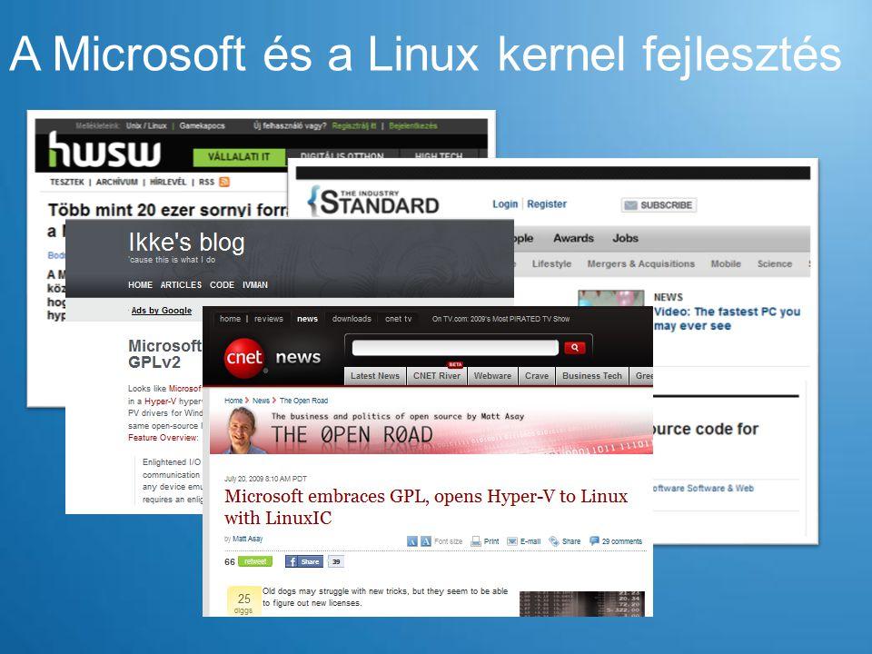 A Microsoft és a Linux kernel fejlesztés