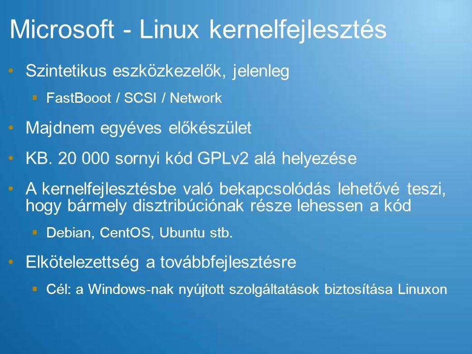 Microsoft - Linux kernelfejlesztés