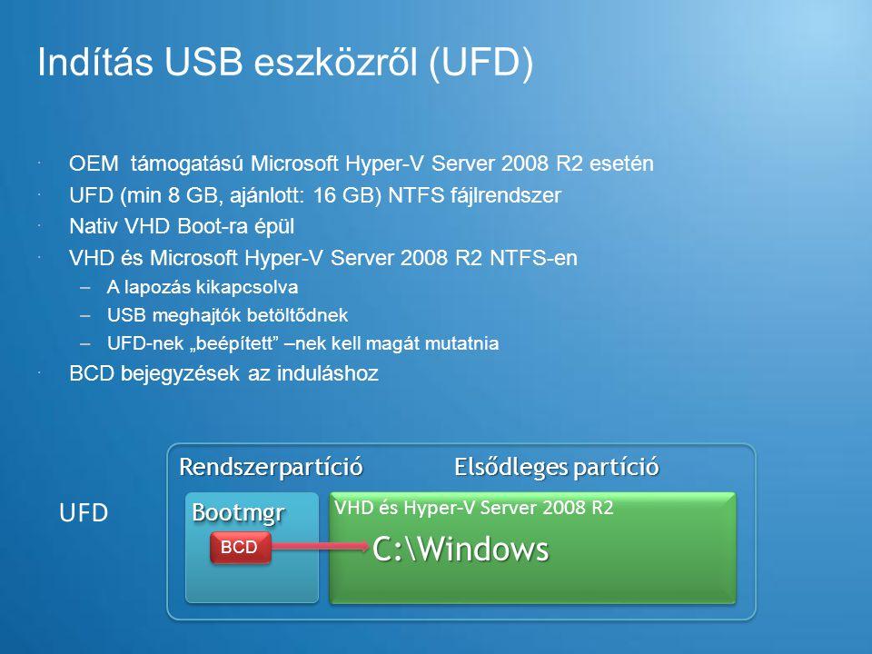 Indítás USB eszközről (UFD)