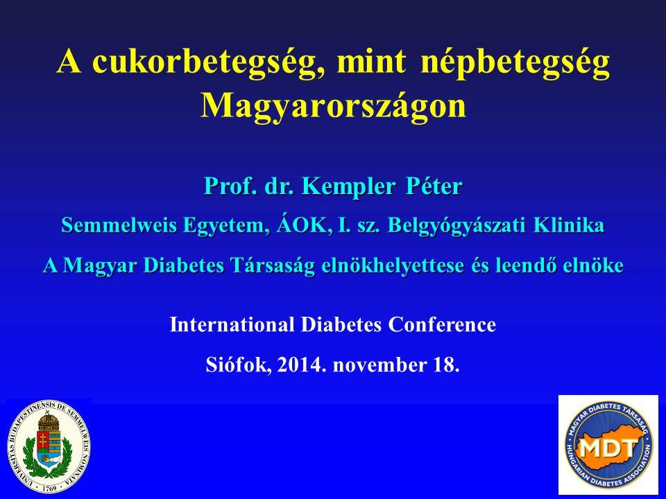 A cukorbetegség, mint népbetegség Magyarországon