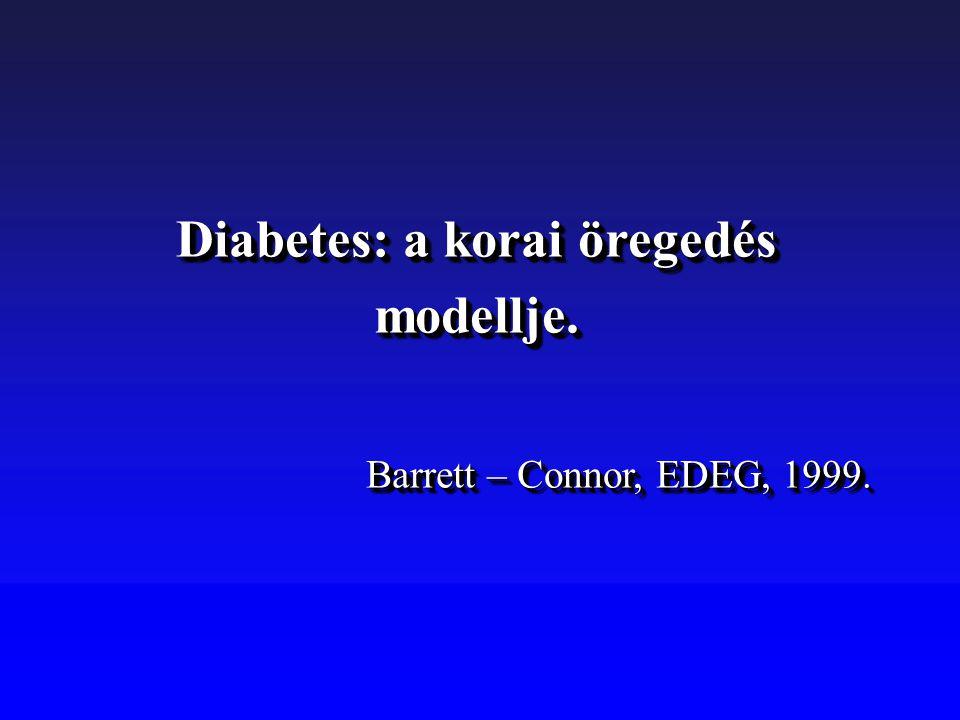Diabetes: a korai öregedés modellje.