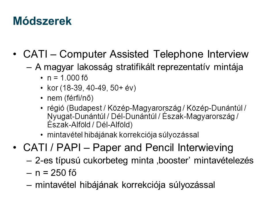 Módszerek CATI – Computer Assisted Telephone Interview