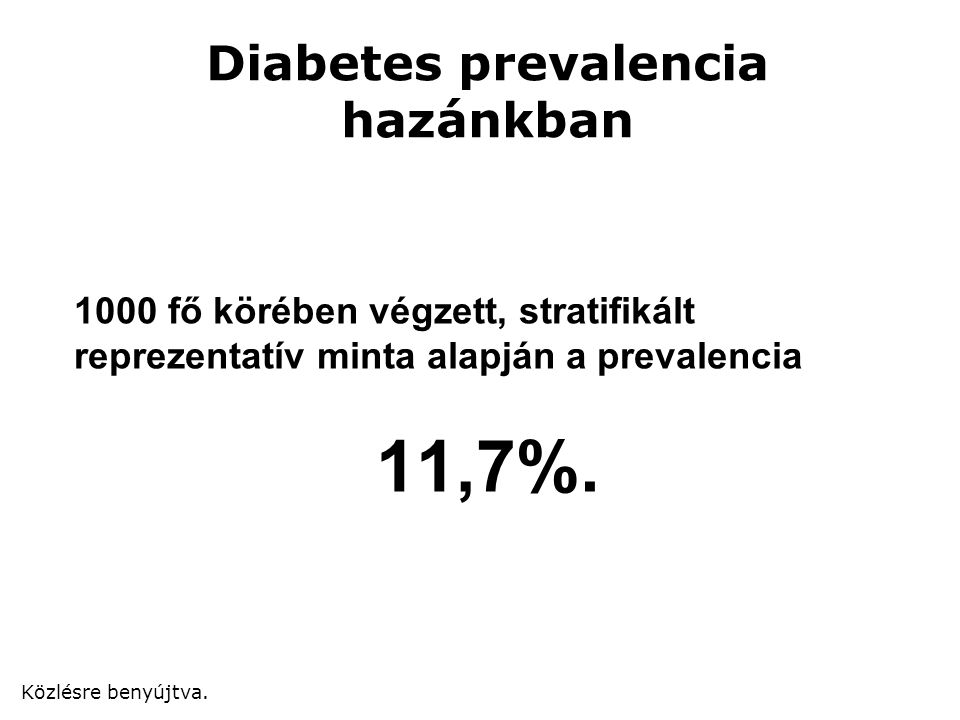 Diabetes prevalencia hazánkban