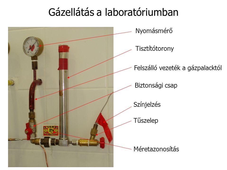 Gázellátás a laboratóriumban