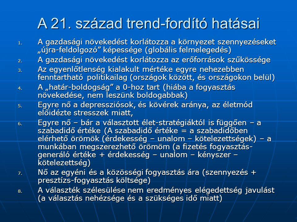 A 21. század trend-fordító hatásai