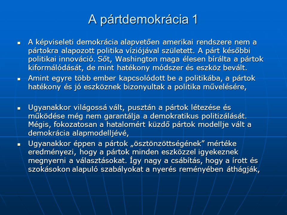 A pártdemokrácia 1