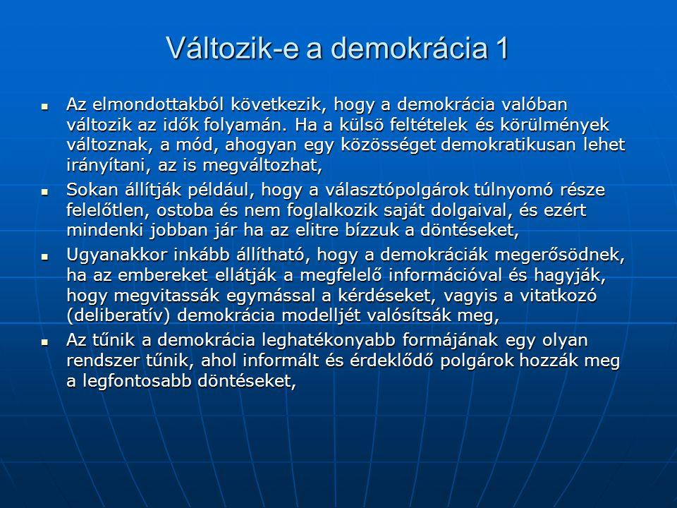 Változik-e a demokrácia 1