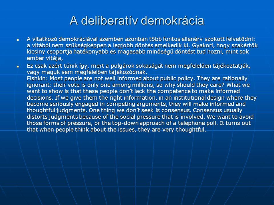 A deliberatív demokrácia