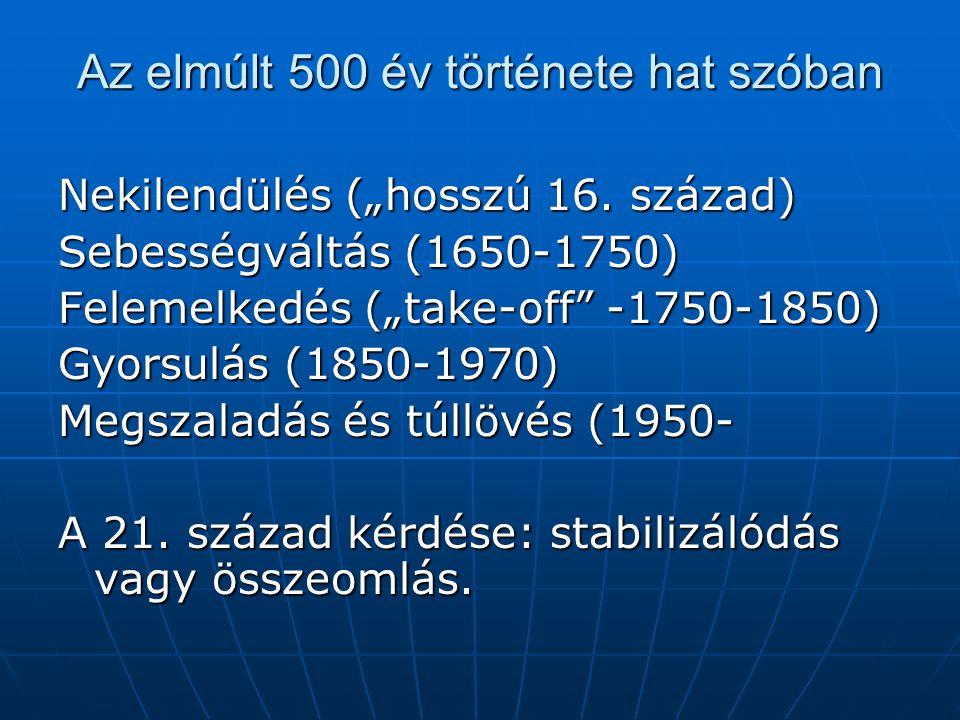 Az elmúlt 500 év története hat szóban