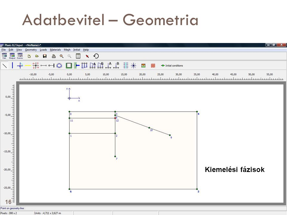 Adatbevitel – Geometria