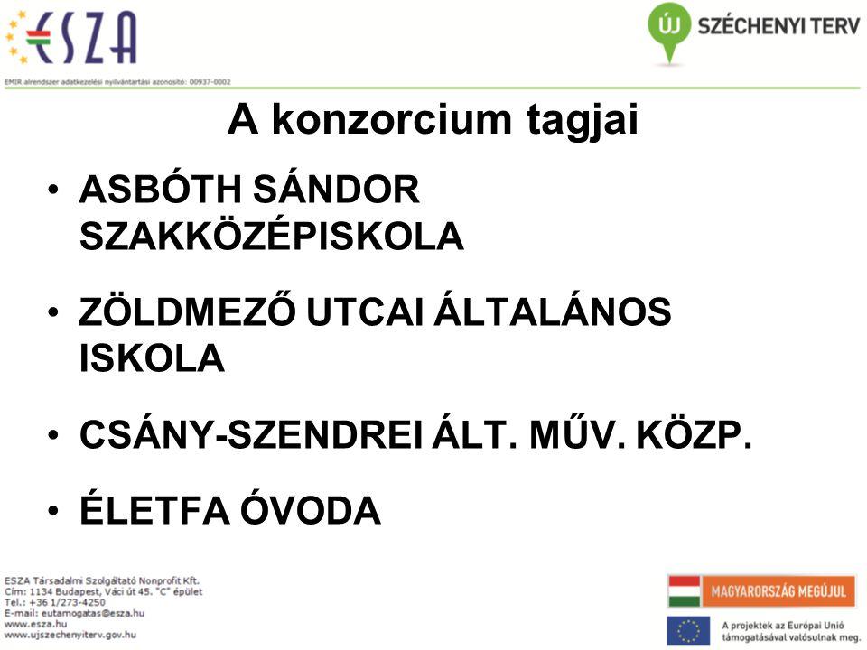 A konzorcium tagjai ASBÓTH SÁNDOR SZAKKÖZÉPISKOLA