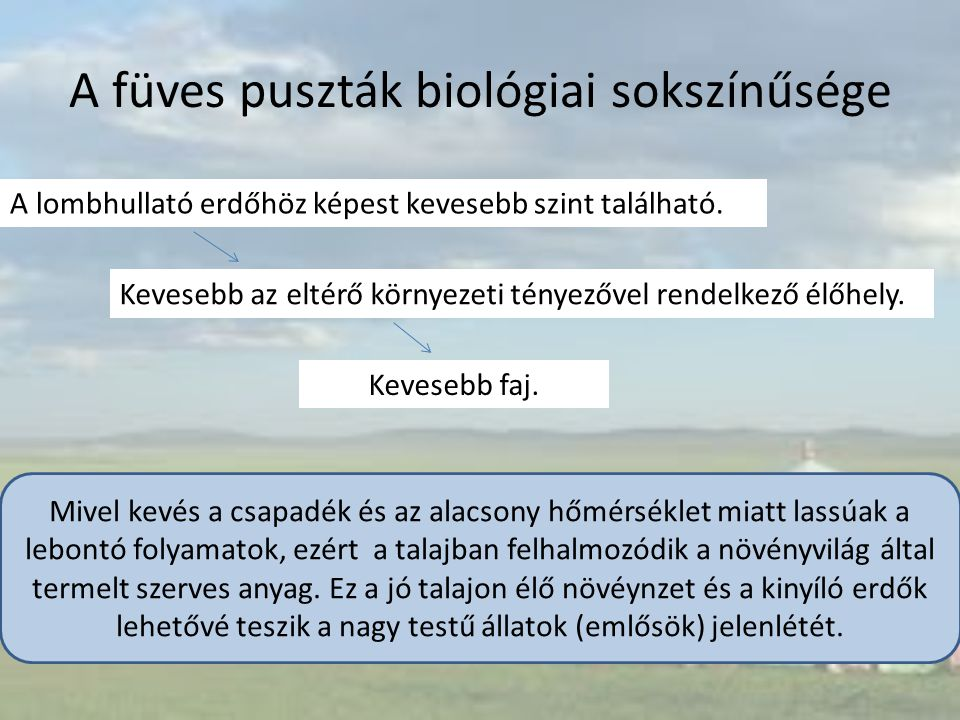 A füves puszták biológiai sokszínűsége