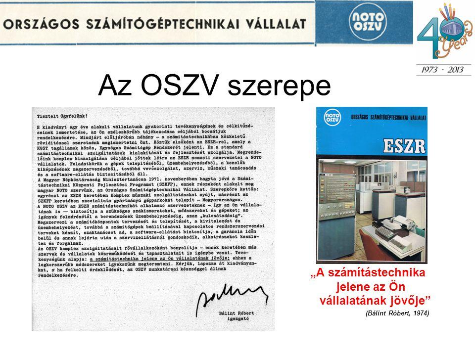 """Az OSZV szerepe jelene az Ön vállalatának jövője """"A számítástechnika"""