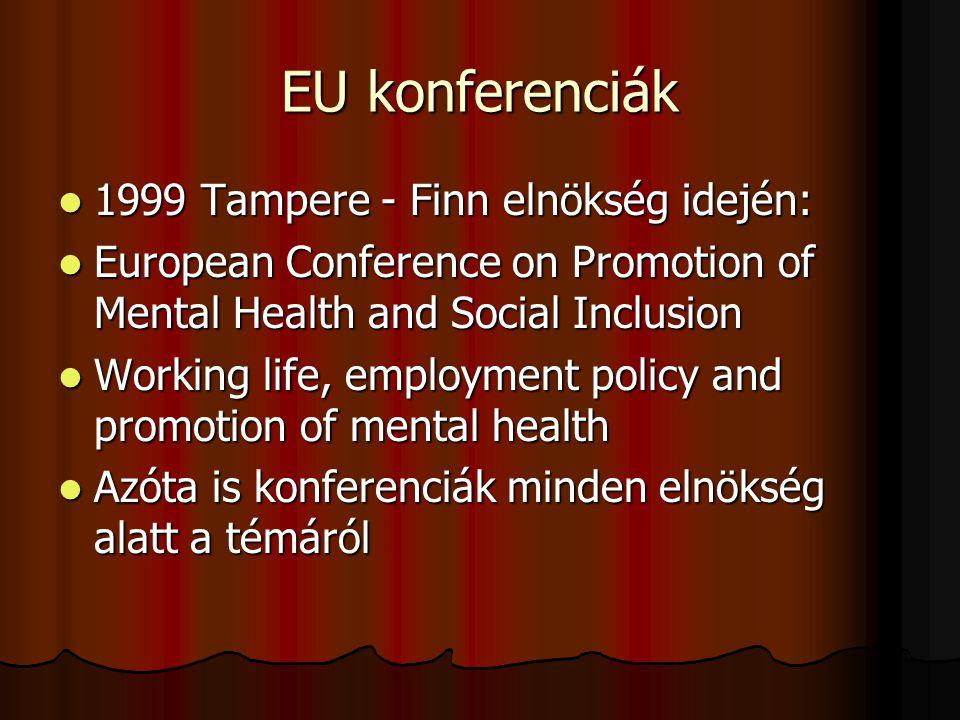 EU konferenciák 1999 Tampere - Finn elnökség idején: