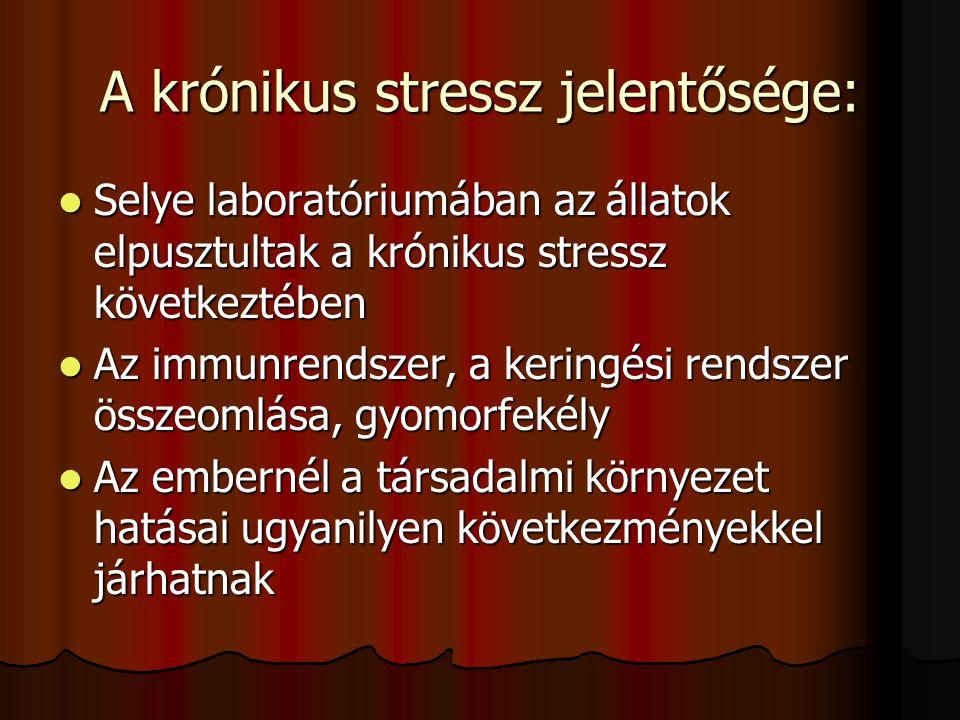 A krónikus stressz jelentősége: