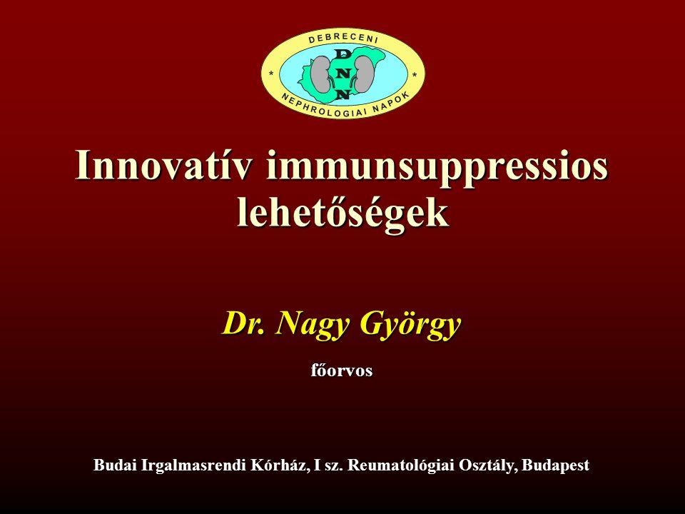 Innovatív immunsuppressios lehetőségek