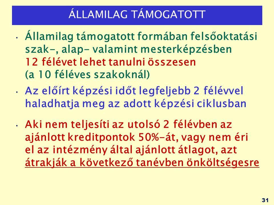 ÁLLAMILAG TÁMOGATOTT